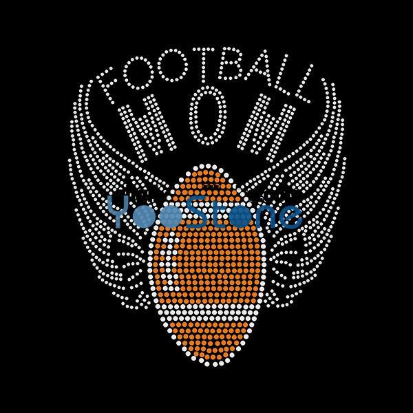 Хорошие Крылья С Футбол Горный Хрусталь Передачи Железа На Исправление Аппликация