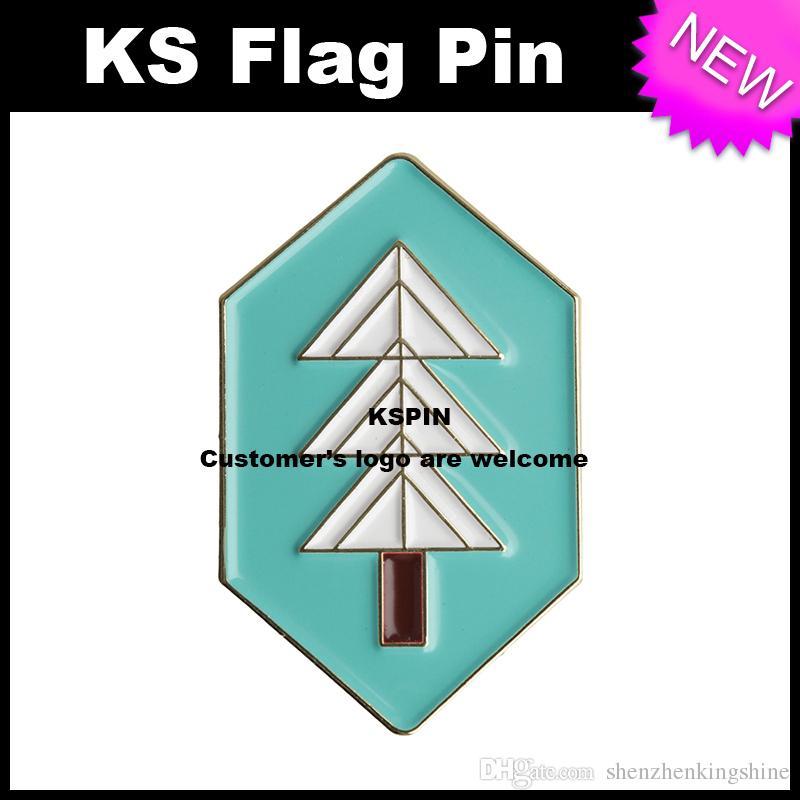 Albero Metal Badge Pin 10pcs molto Spedizione gratuita XY0033