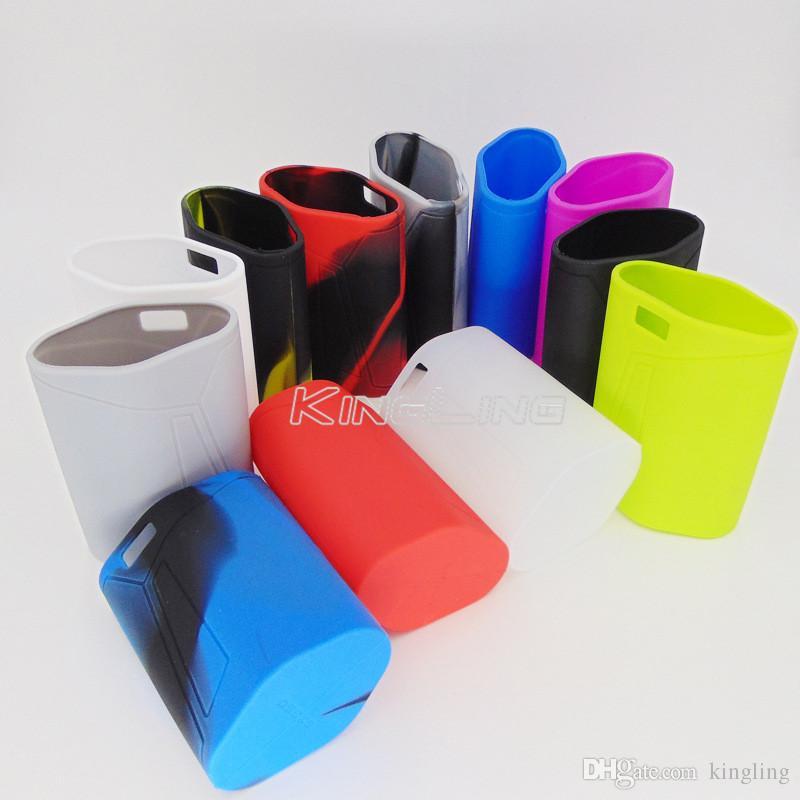 E cigs GX350 Silikon Skin Cover Tasche Gummi Hülle Schutzhüllen Haut für GX 350 Box Mod Vape 12 Regenbogen Farben