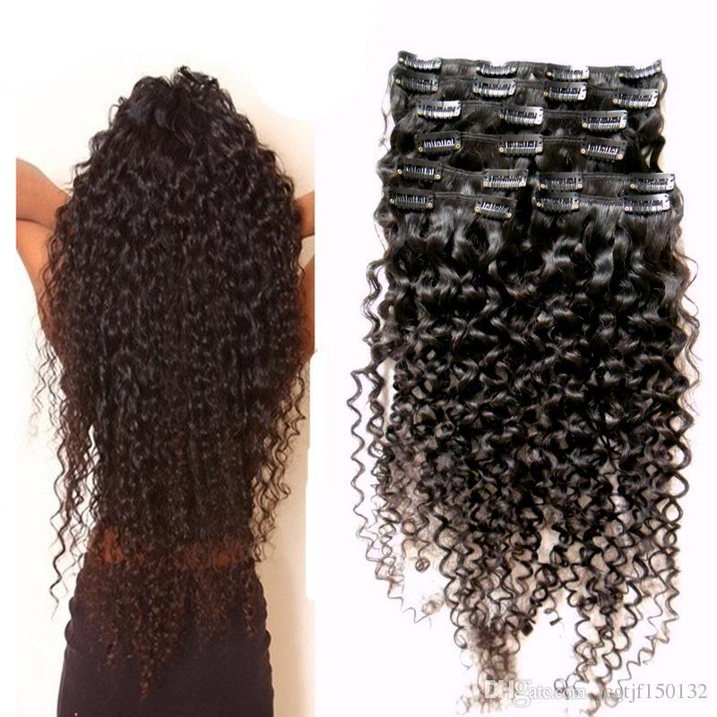 YUNTIAN kinky curly clip ins for black hair 8pcs afro kinky clip ins 100g hair extension clips for african american hair