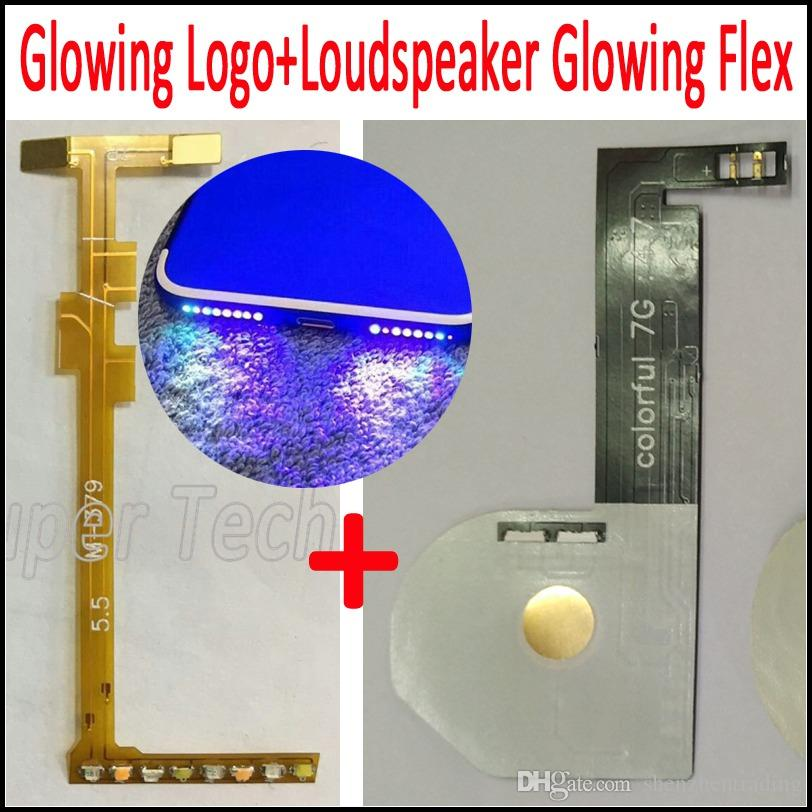 Touchable Led Light Touch Glowing Logo for iPhone 7 Plus Glowing LED logo مع مكبر الصوت Glowing Flex لـ Iphone 7 7Plus 6Plus