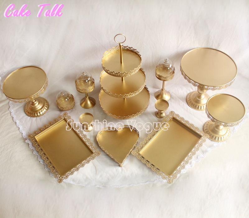 gold cake stand set (7)