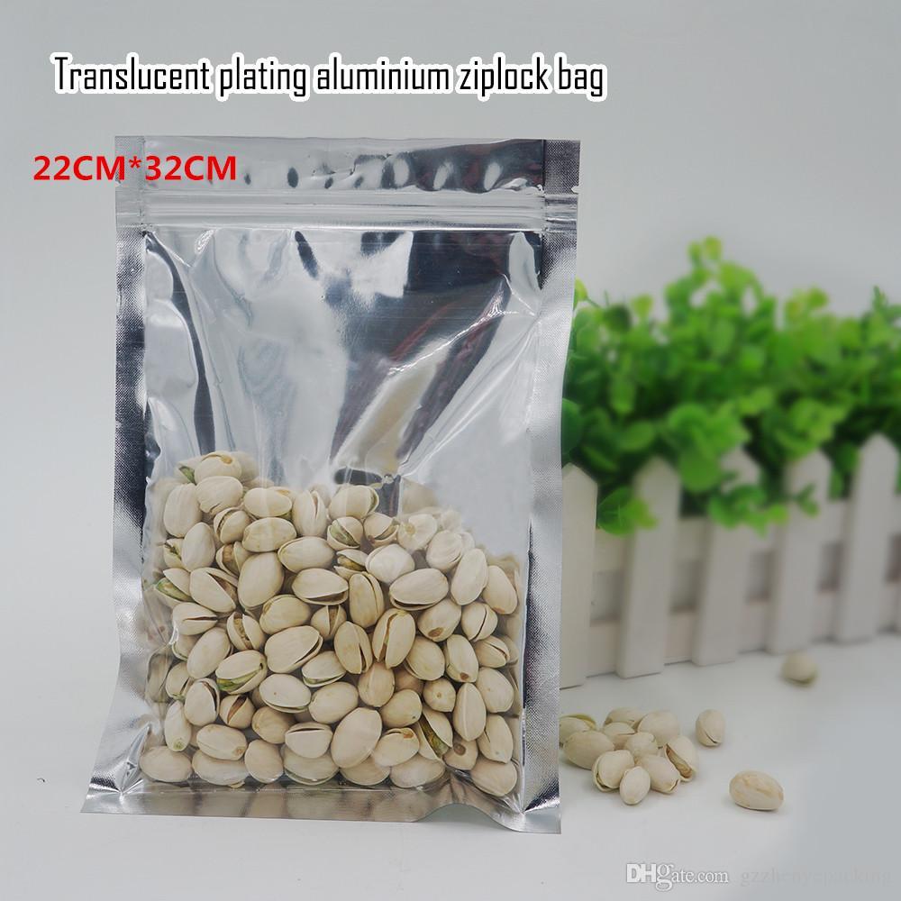 22 * 32 cm Aluminio Yin y Yang bolsa de auto sellado bolsas de papel de aluminio de grado alimenticio bolsas de embalaje de suministro directo de fábrica 100 / paquete