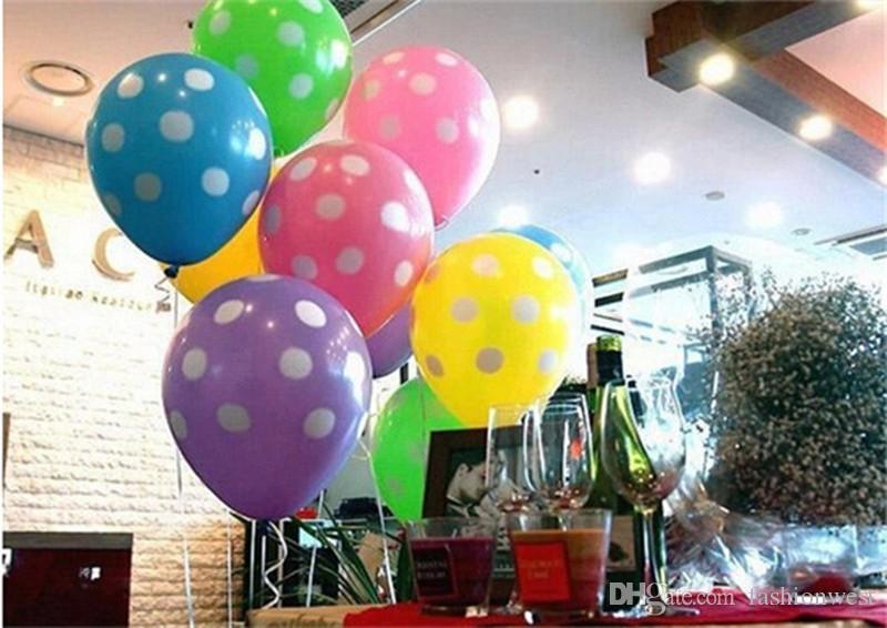 2016 Новый Шаблон Воздушный Шар Латекс Точка Воздушный Шар Партия Свадьба Праздник Украшения Красочные Воздушный Шар Рождество Воздушный Шар Свадьба Воздушный Шар Поставка