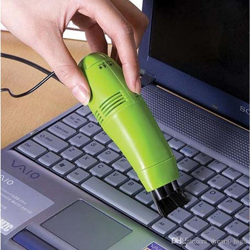 مصغرة USB مكنسة كهربائية لتنظيف لوحة المفاتيح الكمبيوتر لوحة المفاتيح USB الكمبيوتر المحمول آلة الغبار تعيين اللون