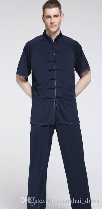 Unisex Milk silk tai chi kung fu martial arts costumes tai chi costumes length short Sleeve