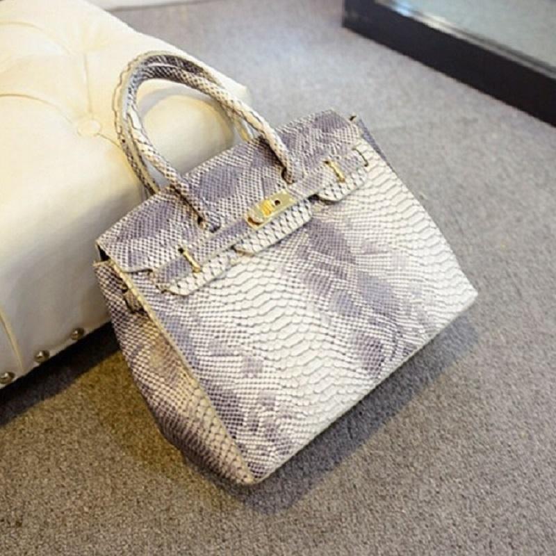 moda atacado- sacos de pele de cobra Serpentine mulheres bolsa 2016 New alta qualidade mulheres mensageiro sacos de couro Bolsa de Ombro