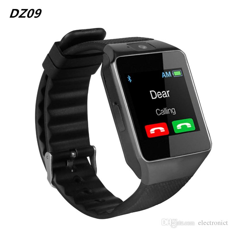 Smart Watch Mens Watches DZ09 Bluetooth Android Phone Call Relogio 2G GSM SIM TF Card Camera for iPhone Samsung HUAWEI PK GT08
