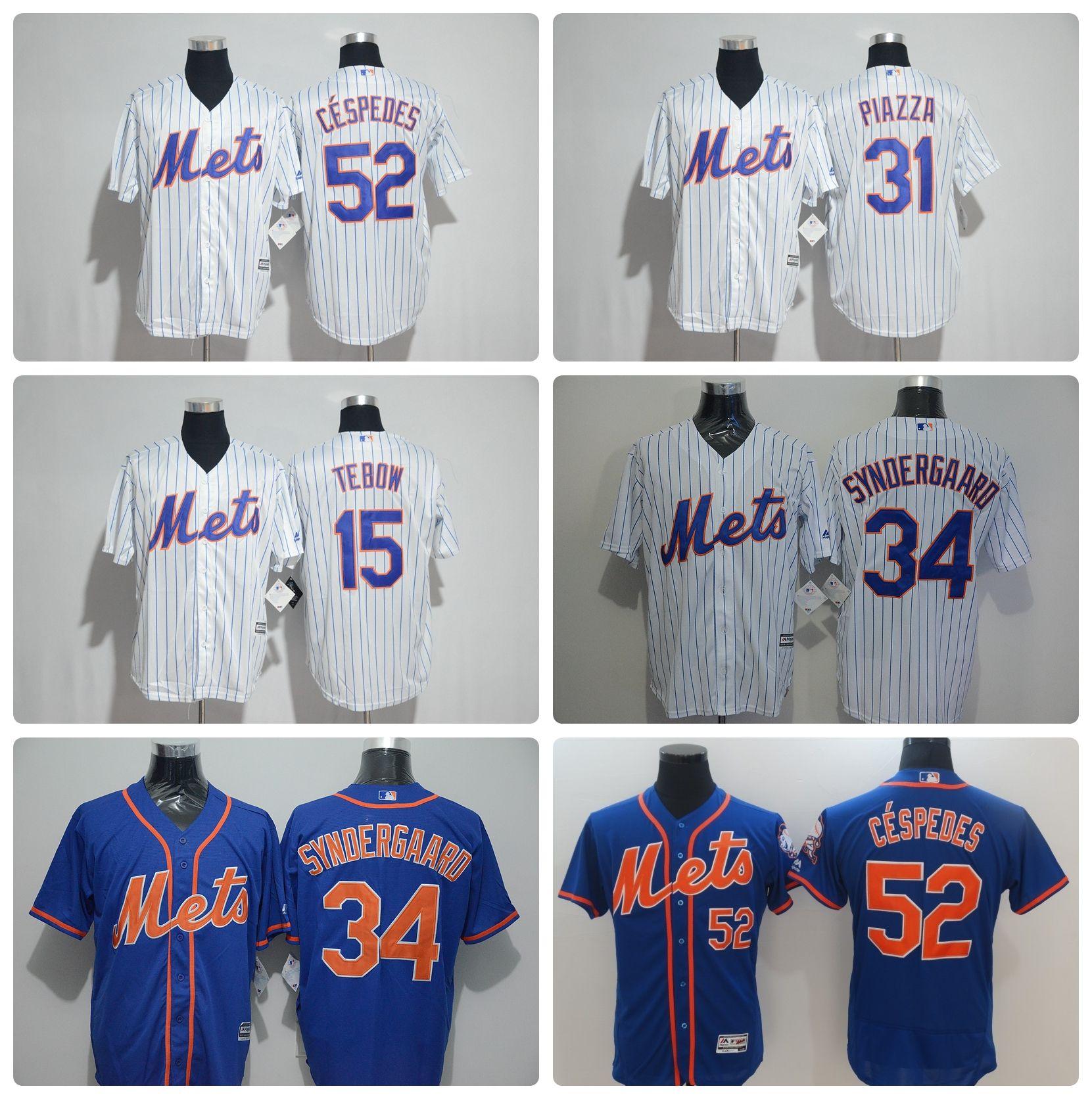 02b675476 2017 Hombres Nueva York Mets 34 Noah Syndergaard 31 Mike Plaza 15 ...