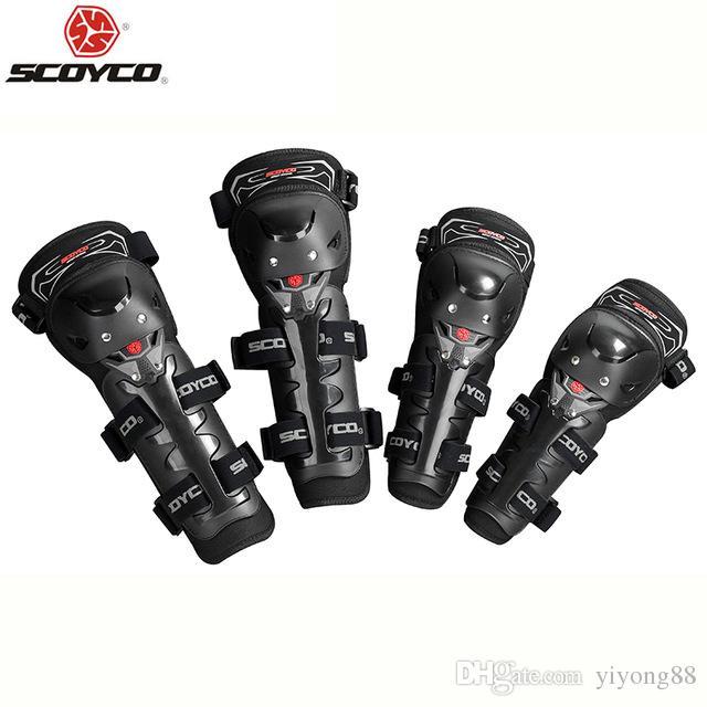 オートバイ保護ニーパッド高品質のセリウムニープロテクターモトレーシングガードスモトクロスScoyco K11h11-2黒赤モトシクレタ