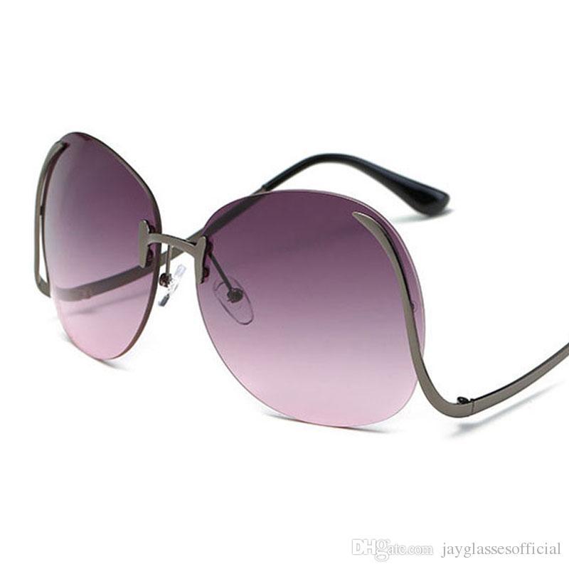 Gafas de sol Viento 2019 Mujeres y Océano Vintage UV400 Gafas de sol Gafas de sol Sin marco Gafas Gafas Femeninas Película Retro Moda Mix Sun Free Shipp MXFG