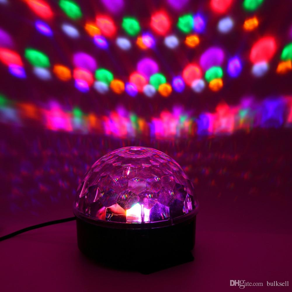 6 Colors LED Crystal Magic Ball Effect Light for Disco DJ Stage Party