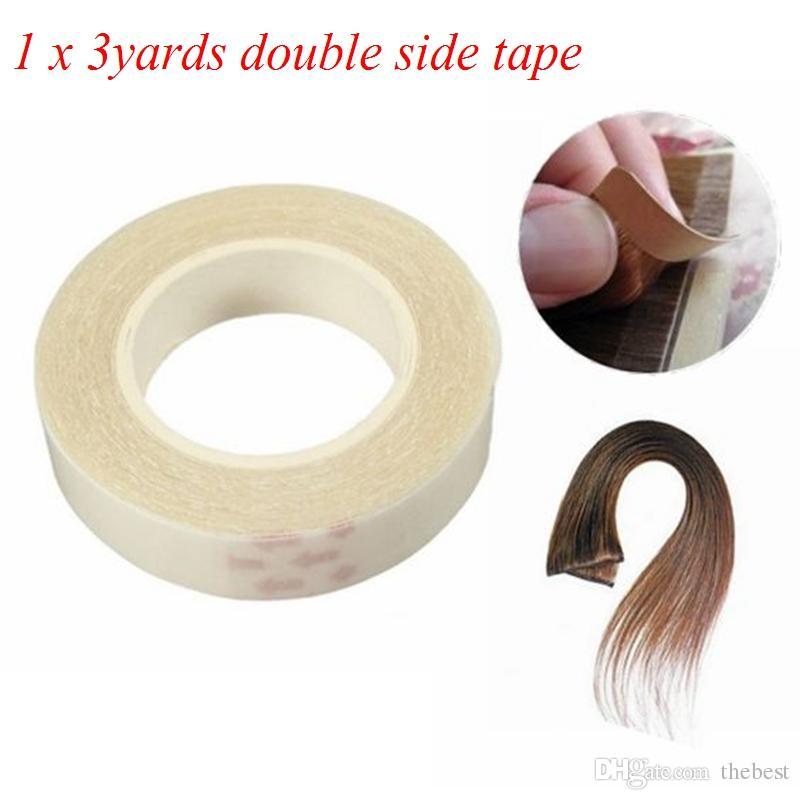 1PCS جودة عالية 1CM * 3M شريط لاصق على الوجهين للجلد لحمة الشعر امتدادات الشعر - سوبر اد