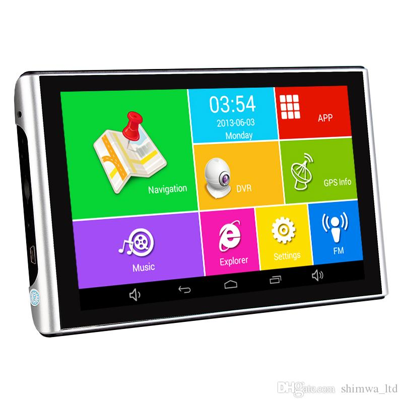 """iaotuGo 7 """"pollici Android GPS DVR Registratore di auto Quad Core 512 M 8G HD 1080P AVIN Bluetooth Wifi Tuck Maps"""