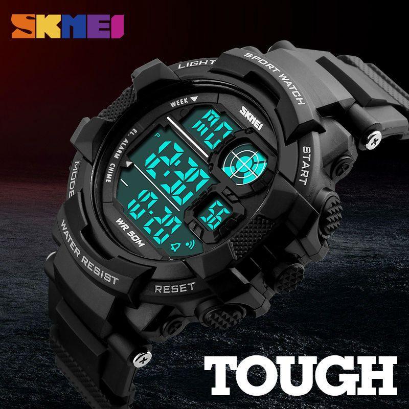 Skmei marca de luxo homens esportes relógio digital led eletrônico militar relógios moda esportes ao ar livre casual relógios de pulso 1118