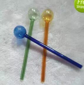 15cm Fumo Pipes tubi per l'acqua in vetro olio RIGS Raccordi per tubi di vetro pentola di cottura Fumo tubi di vetro per bong (20pcs)
