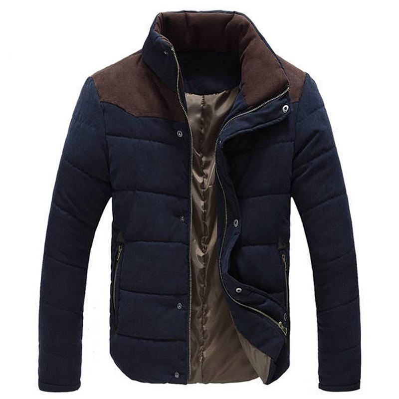 Wholesale- Warm Winter Jackets for Men Wadded Parkas Campera Hombre Invierno 2016 Autumn Slim Fit Men's Cotton-padded Jacket Coat