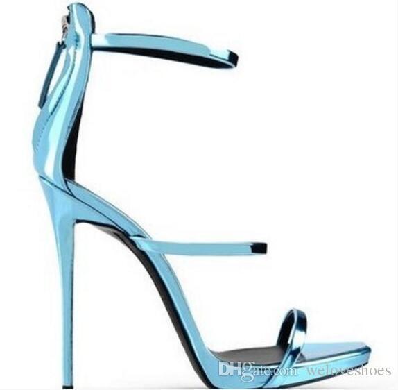 2017 estate sandali delle donne scarpe da sposa sexy open toe celebrità scarpe taglia sandali gladiatore danza tacchi alti cinturino alla caviglia scarpe da festa