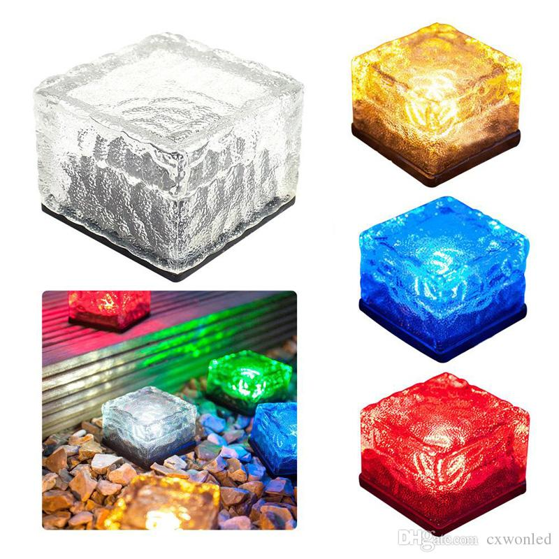 Solar Powered Glass panel Garden Lights, Color Changing Solar Table Lamps, Waterproof Solar Outdoor Lights for Parties Decorations