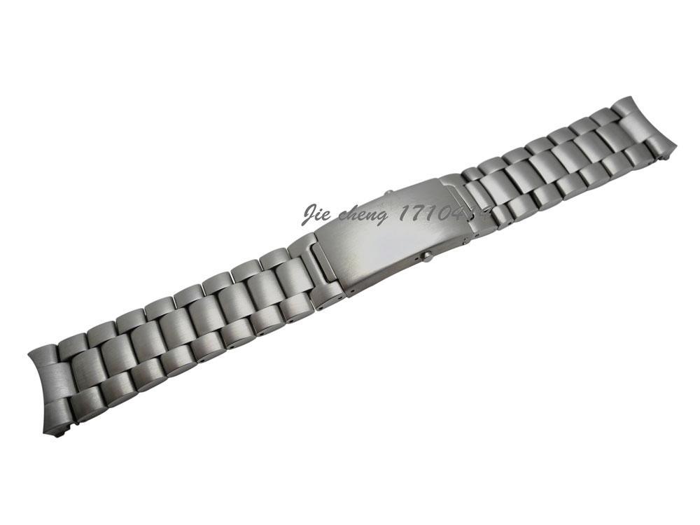 JAWODER Uhrenarmband 20mm 22mm Qualitäts-gebürstet reiner fester Edelstahl-Uhrenarmband-Bügel-Armbänder für Omega-Uhr
