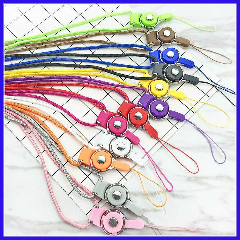 Cinghia per cellulare cordino rimovibile girevole ad anello con fibbia ad anello tipo cellulare con due corde per cellulare