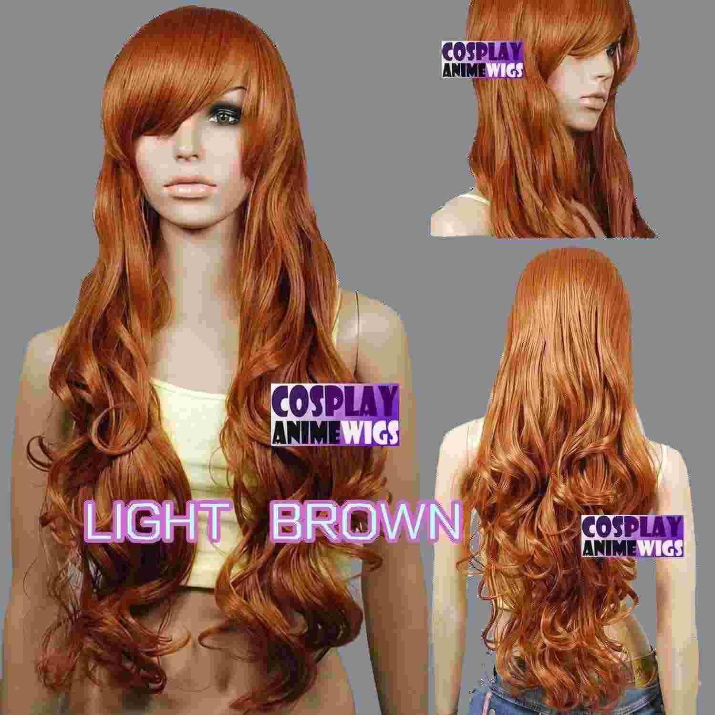 Parrucche riccamente lunghe parrucche riccamente stilizzate di colore marrone chiaro da 80 cm 967_LLB