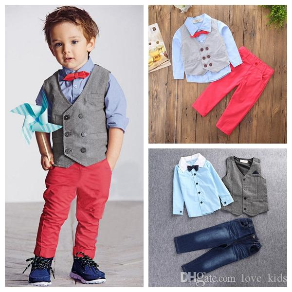 Pants Clothes Set Boys Girls Coat Outfits 2-7T Toddler Baby Kids Cat Print Tops