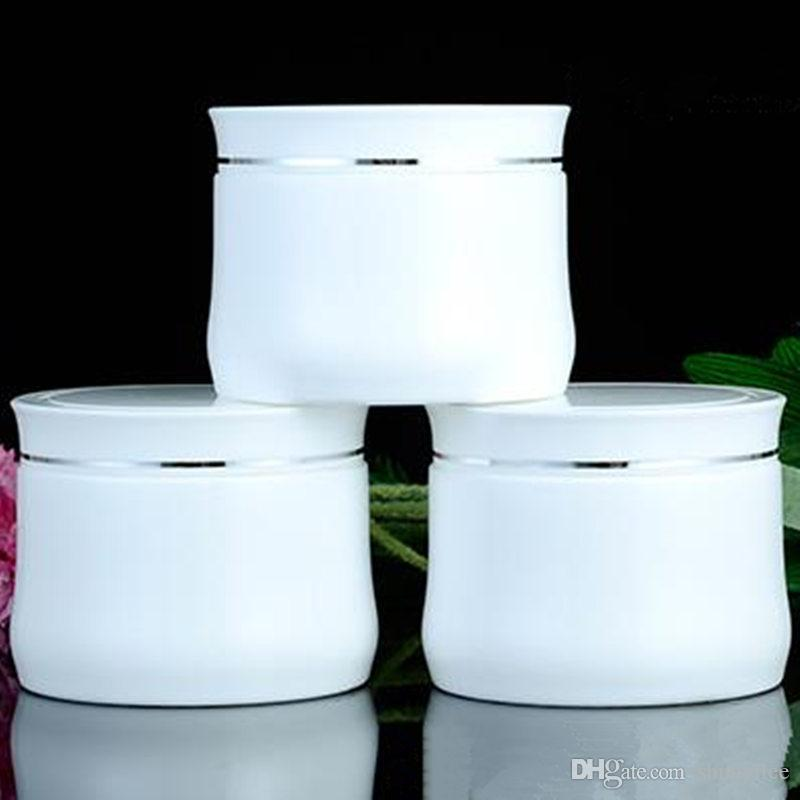 150g Threaded Jar, White Cosmetic Container 150g White Double PP High-end Cream Pot Makeup Sample Jar Packaging Bottle F20171042