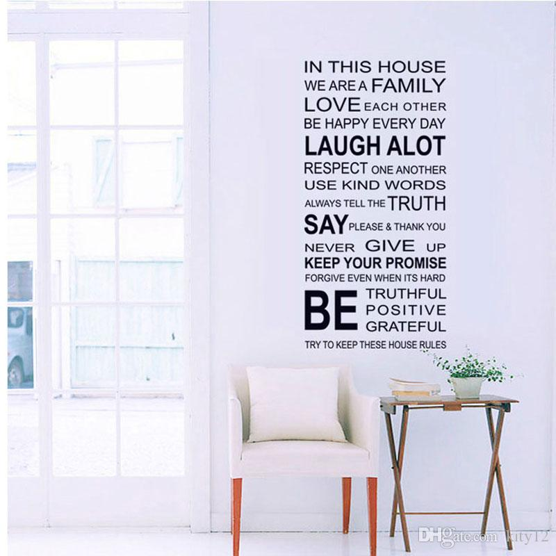 we are family Home Decor Love Art Quote Vinyl Decor Removable Wall Stickers Art Home Decals Free shipping