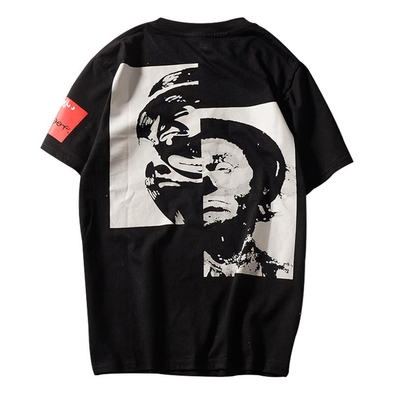 Europa Estilo Hip Hop Tees Moda Cool estendido T camisa Solta de Manga Curta Unisex Personalidade T-shirt Tamanho S-3XL