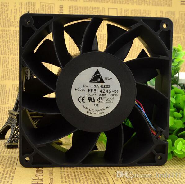 Delta 14CM 24V 2.30A FFB1424SHG 140*140*50mm high quality 4 wire PWM temperature control thermal radiation fan