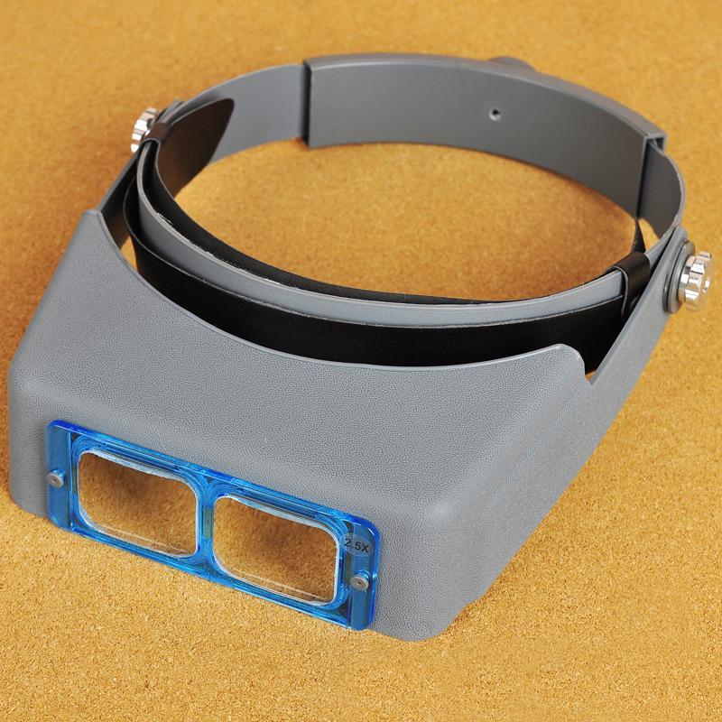 Freeshipping Cam Lens 1.5X2X 2.5X 3.5X Optivisor Bandı Büyüteç İzle Onarım Büyüteç Gözlük Büyüteç Lupa