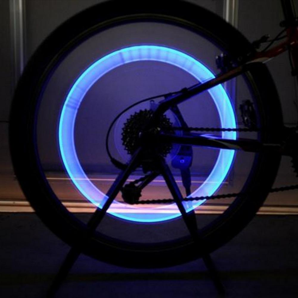 2x LED Lamp Flash Tyre Wheel Valve Cap Light For Car Bike Bicycle Motorbike free shipping