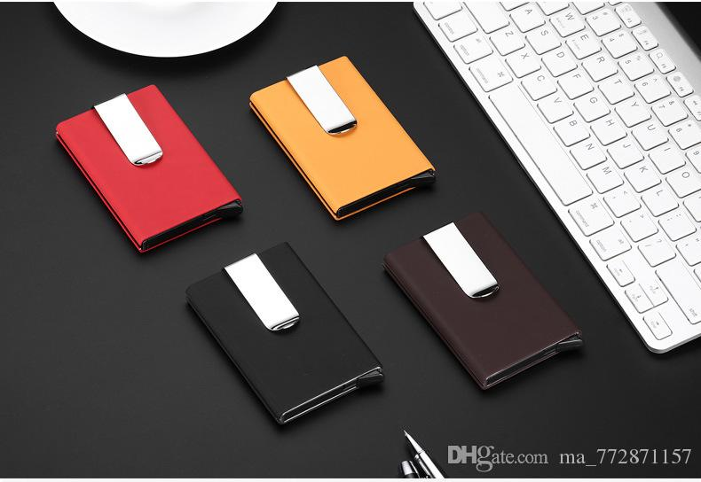 high qualitid metal credit card holder automatic card sets