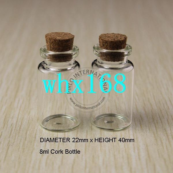 50 stücke 8 ml Kleine Glasflaschen Fläschchen Gläser Mit Korken Korken Stopper Dekorative Corked mini Glasflasche Für Anhänger Freies verschiffen