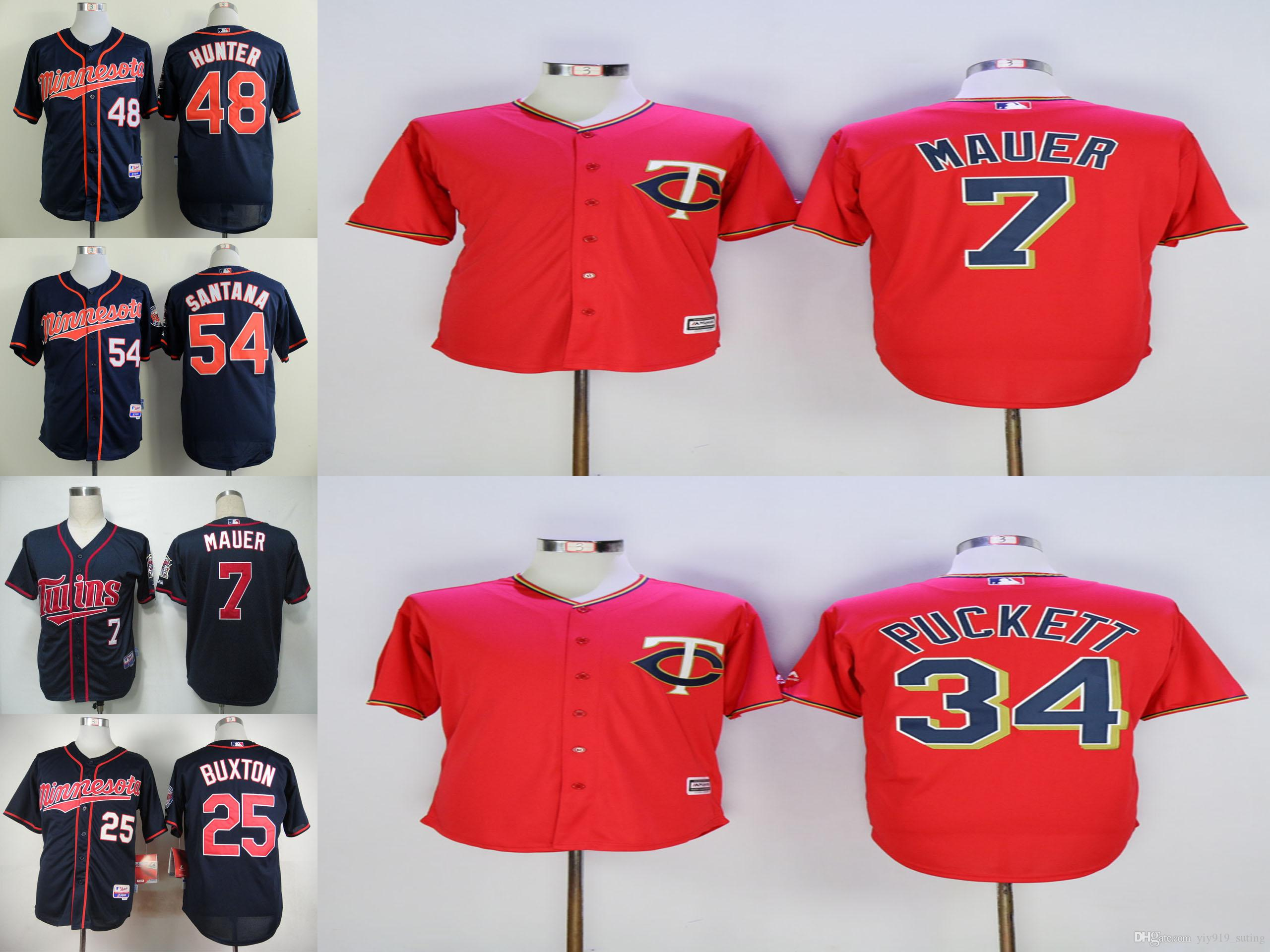 182a41e194f ... 2017 minnesota twins mens jerseys 7 joe mauer 25 byron buxton 34 kirby  puckett 48 torii