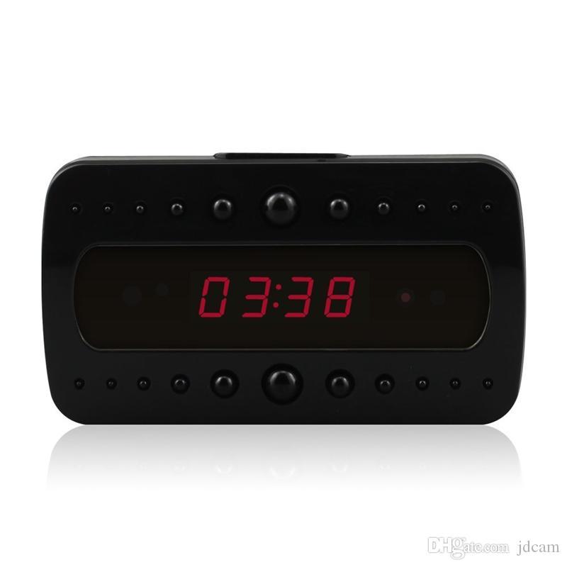 HD 1080p Black Pearl RF Night Vision Alarm Mini Gadget DVR Clock Motion Detection Video Sound Recording Micro Clock Camera