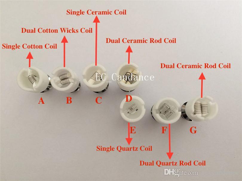 Quartz atomizer dual Ceramic Rod Wax Coil WAX Core Coils wax replacement Ceramic Rod Coil for Glass Globe Skull Tank Atomizer vaporizer