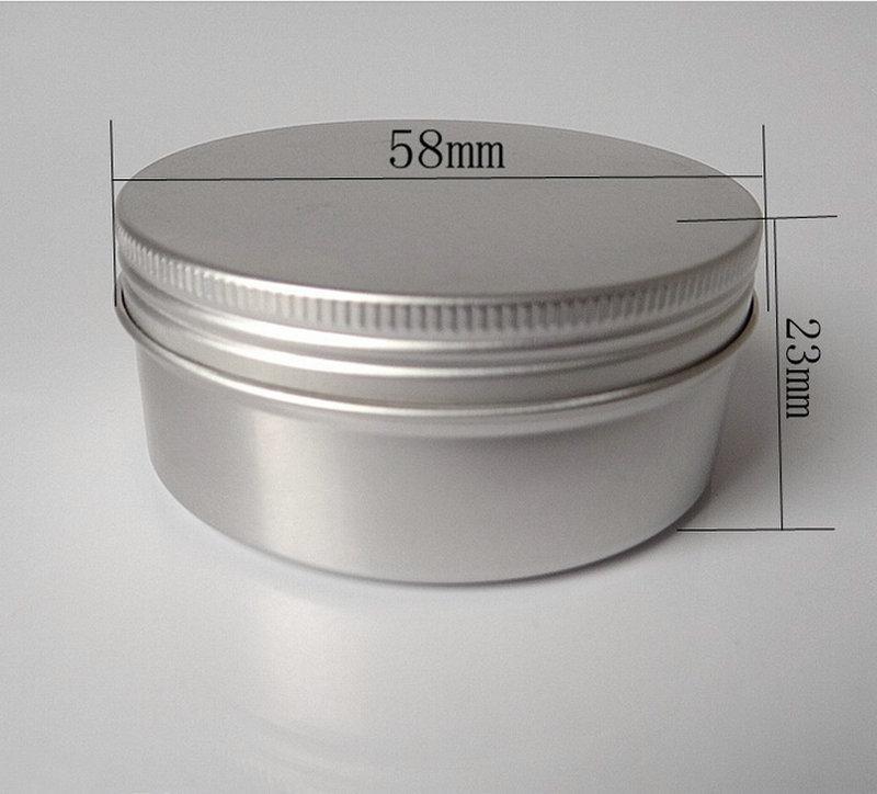 100PCS 50g alluminio piccolo rotondo scatola di latta / balsamo per le labbra / scatola di metallo per i cosmetici