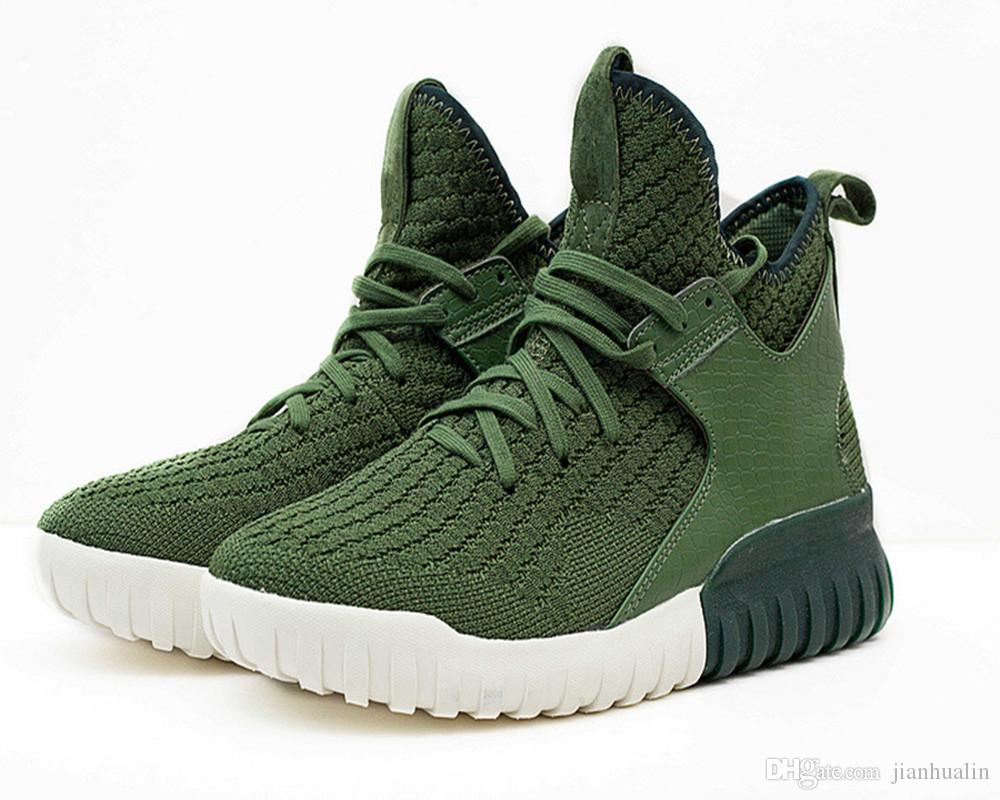 2017 New Arrival Style Top Quality Tubular MENS Shoes Tubular X Primeknit High Boots Offical Casual Shoes EURsize 40 45 Tennis Shoes Ladies Shoes From