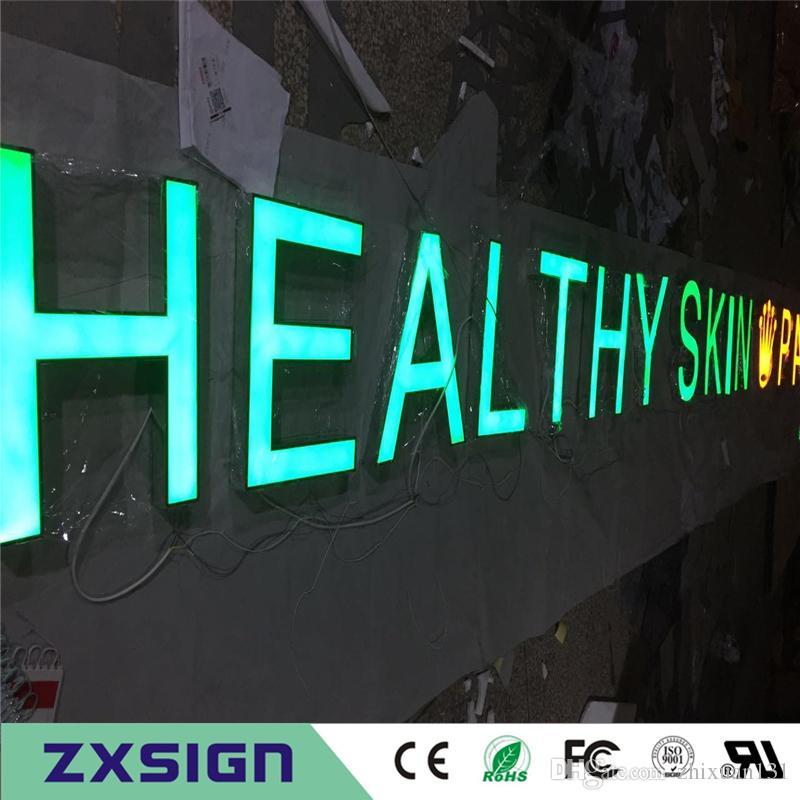 Factory Outlet Niestandardowe Outdoor Reklama Front Light Akrylowe LED Kanał Listy znaki, oznakowanie reklam biznesowych