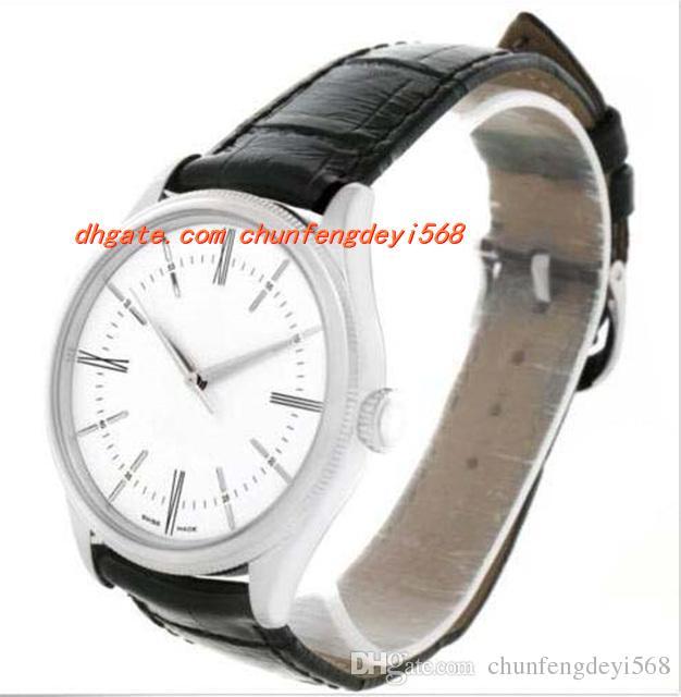 Montre de luxe de mode en or blanc 18 carats cadran blanc automatique montre pour homme 50509 montre pour homme montre de haute qualité pour hommes
