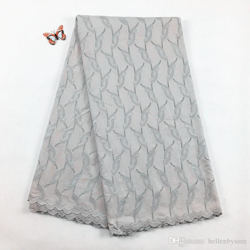 Ventes chaudes Africaine Polonaise Coton Voile dentelle, 2055 Livraison Gratuite (5 yards / pack), 100% coton Africaine De Mariage Partie Hommes Dentelle Vêtements