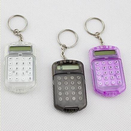 Creativo departamento de estudiantes portátiles Oficina del Gabinete fabricantes de calculadoras de la batería del botón llavero de venta al por mayor