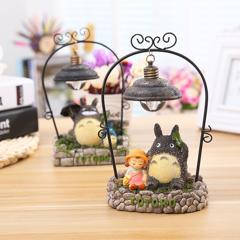 Hayao Miyazaki Totoro süsler Nightlight Zakka Japon bakkal yaratıcı reçine el sanatları hediye öğrencileri