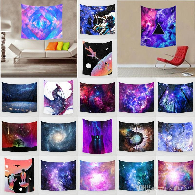 Galaxy Starry Sk Tapestry White Abstract Home Fashion Sofa Decoracion Polyester Boho Mur Indian Tapestry Wall Hanging 150x130cm