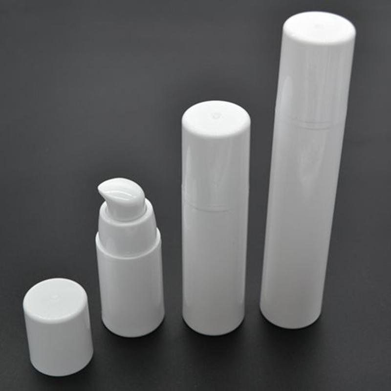 20 pz / lotto 15 ml 30 ml 50 ml bianco vuoto plastica shampoo cosmetici campioni contenitori emulsione lozione bottiglie airless bottiglie SPB87