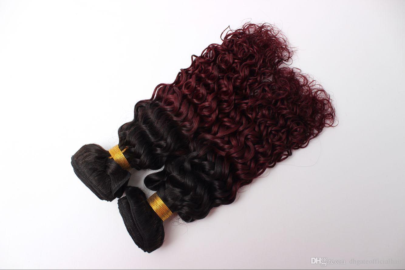 1b/99j Colored human hair bundles weaves closure brazilian hair bundles no shedding no tangling with the wholesale price