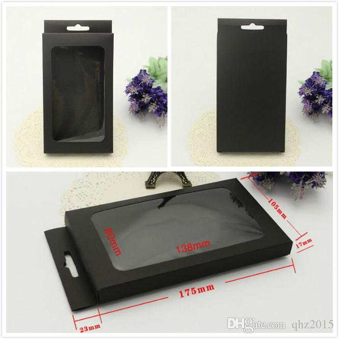 Universal Kraft black Paper Retail Package packing Box boxes for phone case iPhone 5S 6 6s PLUS Samsung Galaxy S7 S6 edge OEM