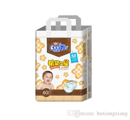 Lowest Price 2019 Factory sale Baby nappies Diapers Three-demensional leakproof locks in urine Ultra-Thin and soft Size NB,M,L,XL W17JS366